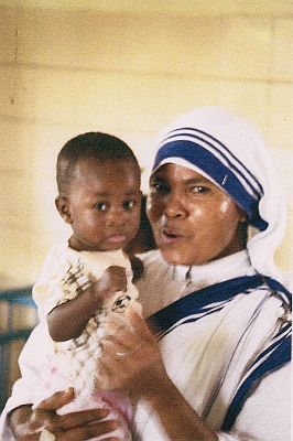 Mother Theresa's sister with a child